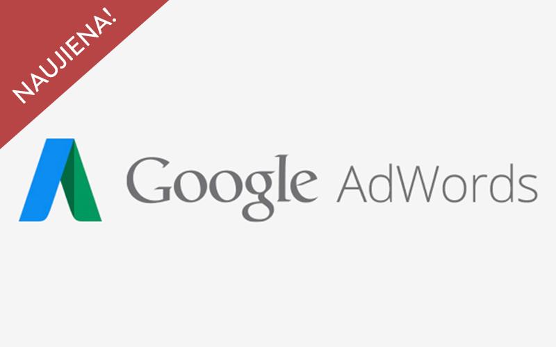 """Naujos kokybės balo vertinimo galimybės """"Google AdWords"""" reklamoje"""
